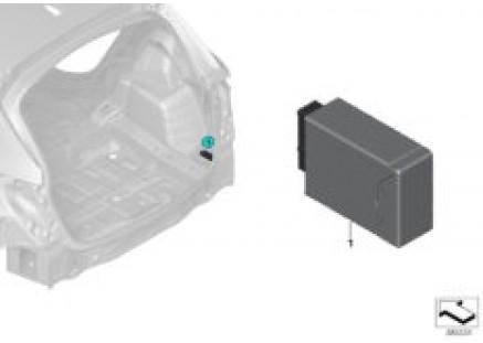 Control unit for remote backrest release