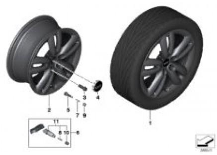 MINI LA wheel Track Spoke 501 - 17''