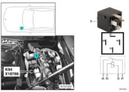 Relay for motor K94
