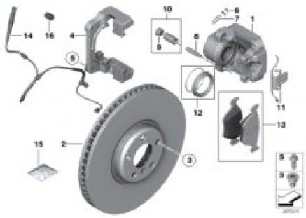 Front brake pad 'Power Kit'