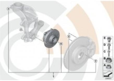 Repair kit, wheel bearing, front