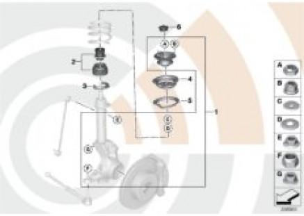 Repair kits for shock absorbers, rear