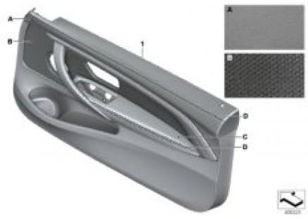 Indiv.door trim panel, front leather