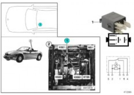 Relay driver seat frt-rear deactiv. K921
