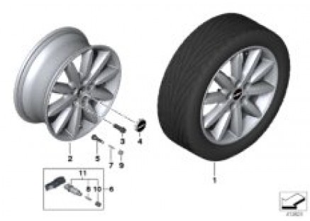 MINI LA wheel Propeller Spoke 503 - 17''