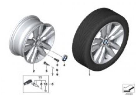 BMW LA wheel Star spoke 655- -17''