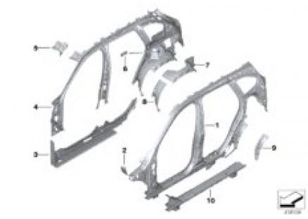 Body-side frame-parts