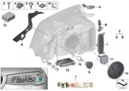 Separate components headlight xenon/AHL