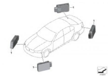 Sensor for lane change warning