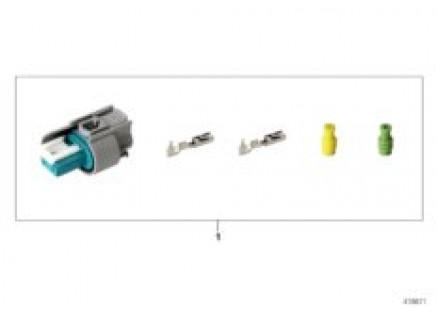 Repair kit for socket housing, 2-pin