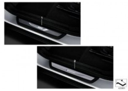 BMW LED door sill cover strips