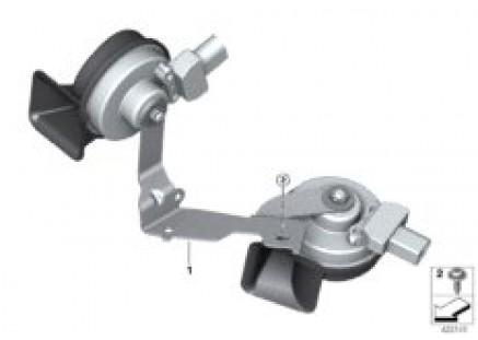 Air horns with bracket