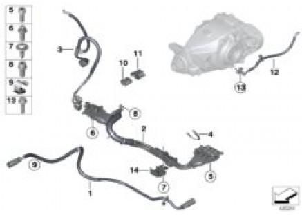 Various wiring harnesses, hybrid