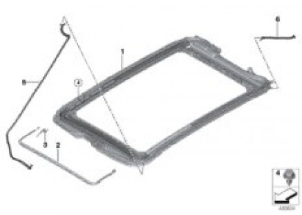 Panorama roof mounting parts