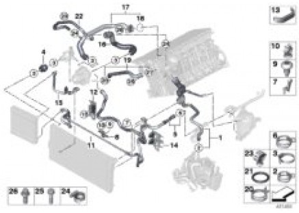 Cooling system coolant hoses