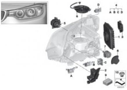 Single parts, headlight LED