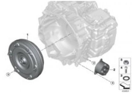 GA6F21AW torque converter/oil cooler