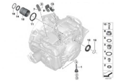 GA8F22AW mounted parts/seals