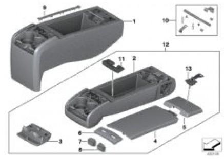 Rear seat center armrest