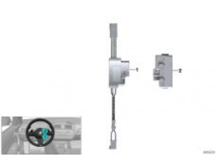 Control unit, steering wheel electronics