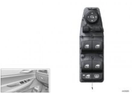 Operating unit, switch module, door, frt
