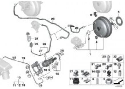 Vacuum pump for brake servo unit