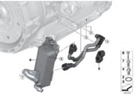Trans. oil cooler line / heat exchanger