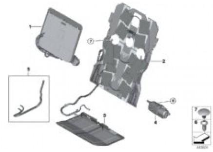 Seat, front, lumbar support-massage