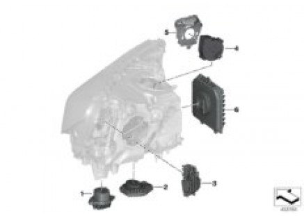 Electronic components for headlight