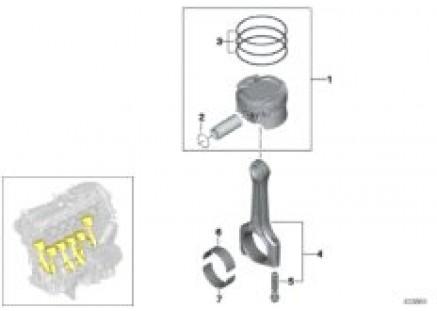 Crankshaft asbly - Connecting rod/piston