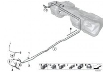 Fuel pipes / Mounting parts