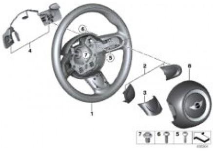 Sport steer. wheel, airbag/shift paddles
