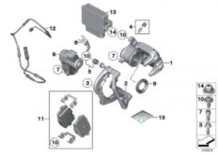 Rear brake - control module EMF