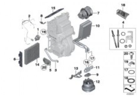 Rear air conditioner