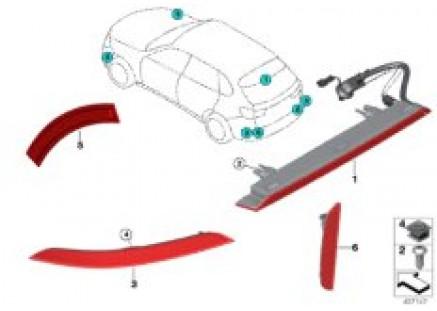 Cntr. high-mount stop light / reflector