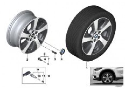 BMW LA wheel Turbine Styling 561 - 17''