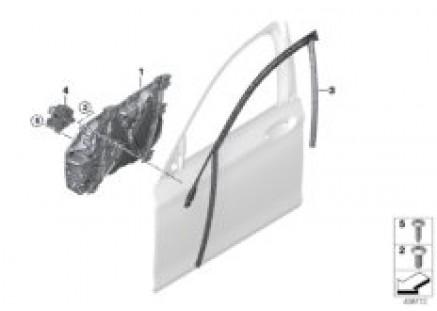 Door window lifting mechanism front