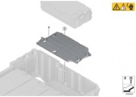 High-voltage battery module braces