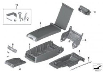 Seat, rear, center armrest, Basis