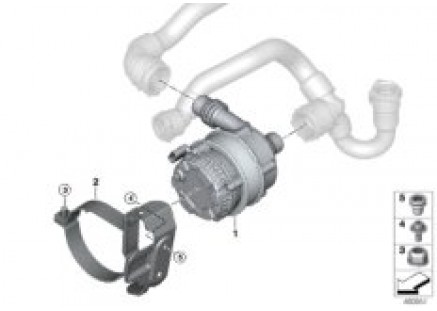 Cooling sys.charge air el.coolant pump
