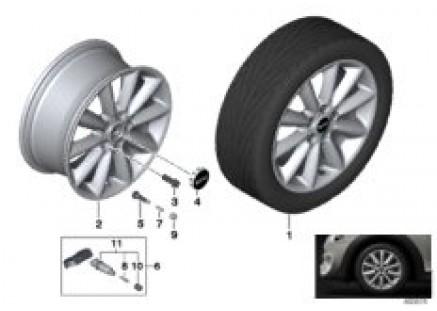 MINI LA wheel vent spoke 518 - 17