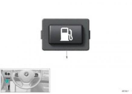 Button, pressurized tank release
