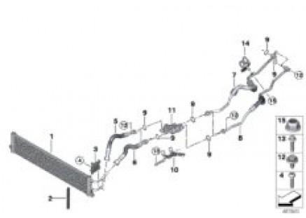 Transmission oil cooler/oil cooler line