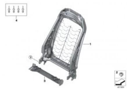 Seat, front, backrest frame