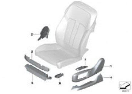 Individual seat cover panels, front