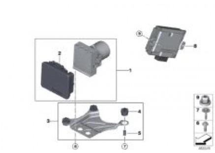 Hydro unit DSC/control unit/fastening