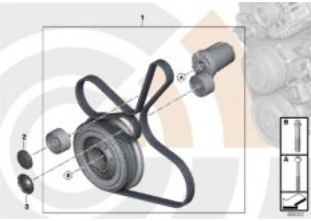 Rep. kit, drivebelt assembly,Value Line