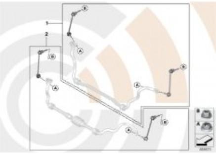 Repair kit for anti-roll bar links