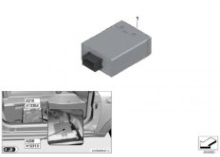Control unit for retracting mirrors