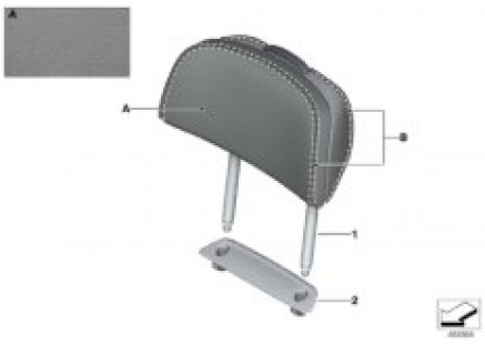 Ind. headrest, comfort seat, rear